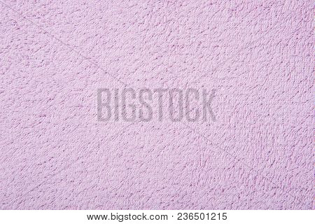 Texture Of Soft Cotton Fluffy Purple Towel As A Beautiful Background