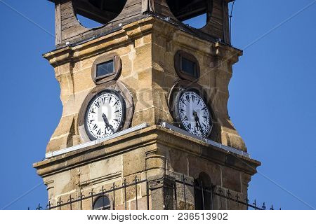 The Historical Clock Tower, Clock Tower Turkey Pictures, Blue Sky And Clock Tower,