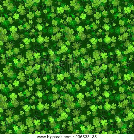 Green Greeting Card For St. Patricks Day, Lettering Hand Draw Vector
