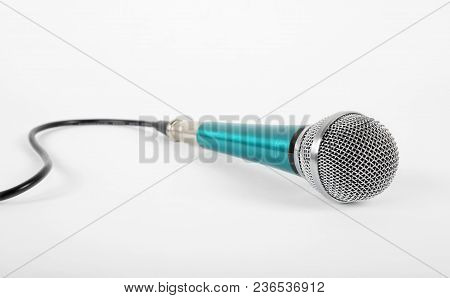 Music And Sound - Vintage Vocal Microphone On A White Background.