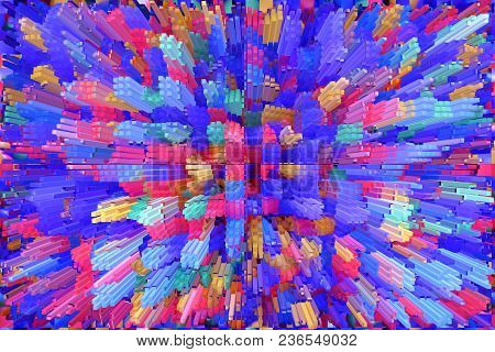 Abstract Multicolored Explosion. Texture With Color Abstractions. Creative Abstract Patterned Backgr