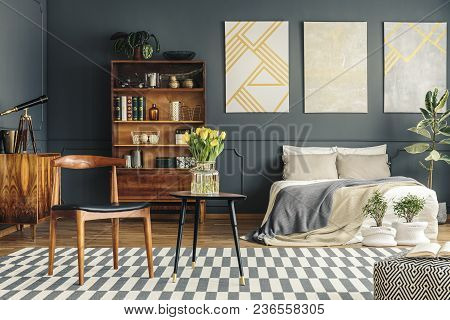 Retro Bedroom Interior