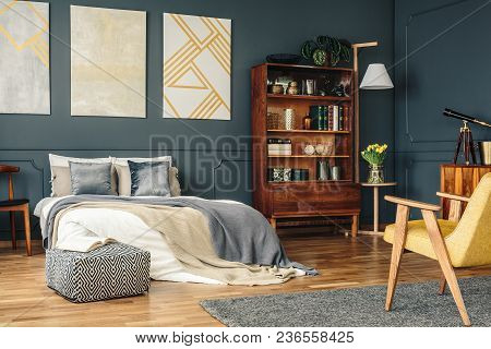 Antique Furniture In Dark Bedroom