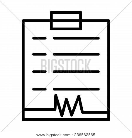 Diagnostic Report Line Icon.96x96 For Web Graphics And Apps.  Simple Minimal Pictogram. Vect