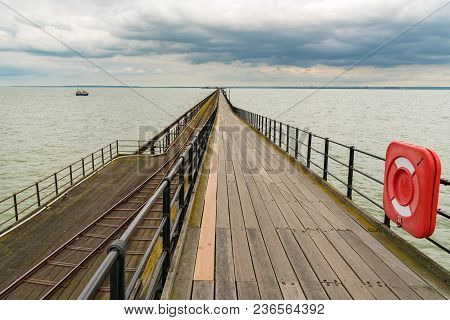Southend-on-sea, Essex, England, Uk - May 30, 2017: View At Southend Pier (longest Pleasure Pier In