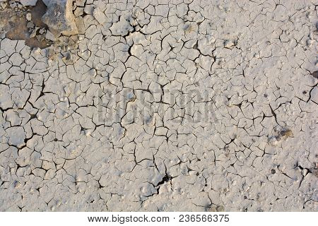 Brown Color Dry  Cracked Muddy  Earth As A Background Texture