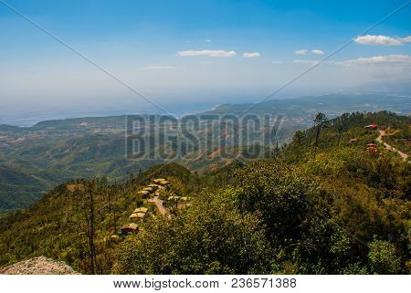 National Park Of La Gran Piedra, Santiago De Cuba, Cuba: Magnificent Landscape With Mountain Views.