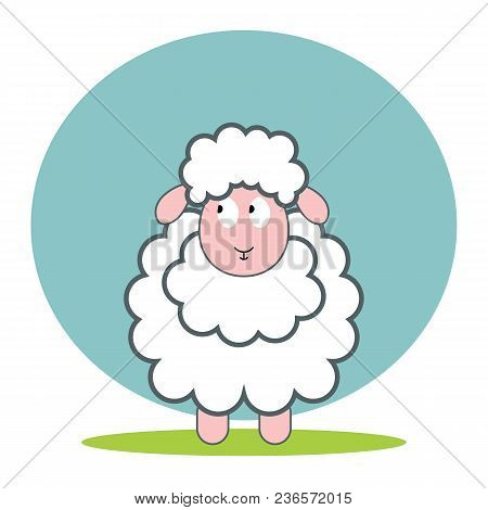Sheep Flat Vector Icon. Sheep Sketch Icon For Web, Mobile And Infographics. Hand Drawn . Isolated On