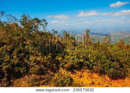 National Park La Gran Piedra, Big Rock, Sierra Maestra, Cuba: Landscape With Stunning Views Of The S