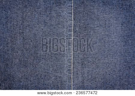 Dark Blue Jeans Texture. Denim Jeans Texture, Denim Jeans Background With A Seam. Jeans Fashion Desi