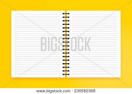 Blank Note Book On Colored Background