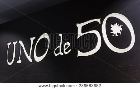 Madrid, Spain - 28 March, 2018: The Store Of The Spanish Firm Of Jewelry And Costume Jewelry Unode50