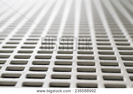 Rectangular Cells Perspective Metal Mesh Background, Outgoing Lines