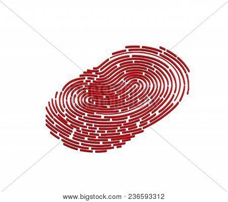 Mobile Application For Fingerprint Recognition In 3d. Vector Illustration Eps10 File.