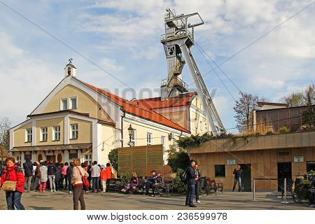 Wieliczka, Poland - April 22, 2012: This Is The Entrance To The Salt Mine-museum, Some Of The Most F