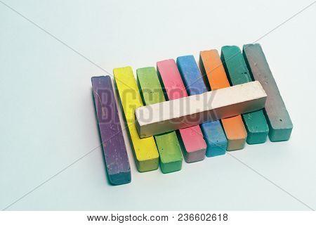 Chalk Bars Bright Colored Set For Kids Art