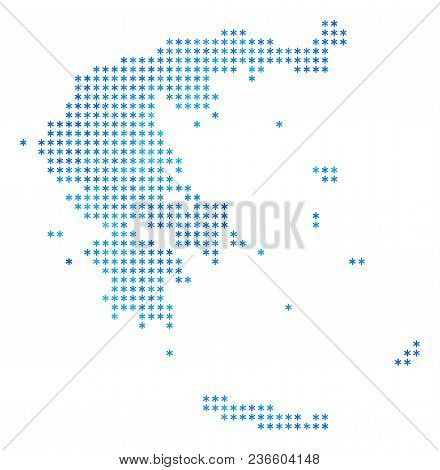 Icy Greece Map. Vector & Photo (Free Trial) | Bigstock