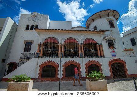 Santo Domingo, Dominican Republic- October 30, 2015: Beautiful Building In Historic Quarters Of Zona