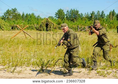 Tyumen, Russia - July 1, 2017: Race Of Heroes Project On The Ground Of The Highest Military And Engi