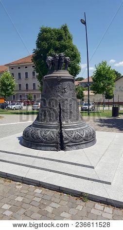 Alba Iulia, Romania, July 22, 2017: Bell In Interior Of Citadel, Alba Iulia Fortress Complex,transyl