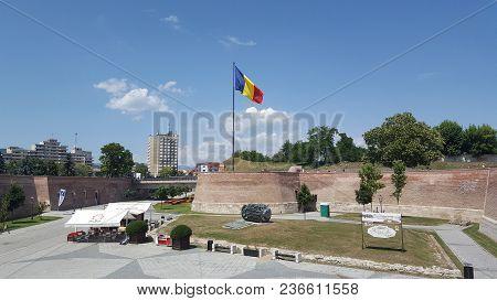 Alba Iulia, Romania, July 22, 2017: Citadel, Alba Iulia Fortress Complex,transylvania,romania