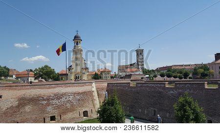 Alba Iulia, Romania, July 22, 2017: Citadel, Alba Iuliafortress Complex ,transylvania,romania