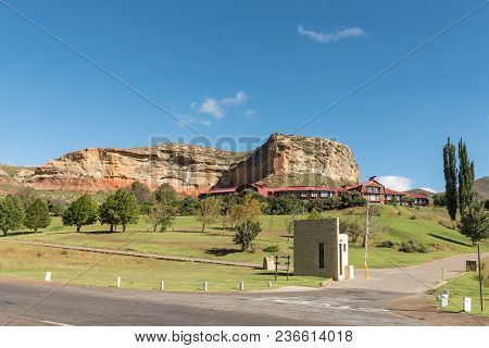 Golden Gate Highlands National Park, South Africa - March 12, 2018: The Hotel In The Golden Gate Hig