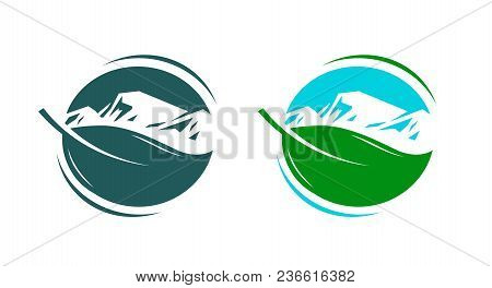 Nature, Ecology, Environment Logo Or Label. Organic Natural Product Icon