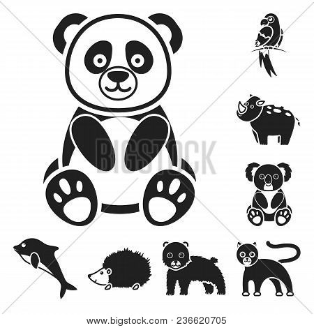 An Unrealistic Animal Black Icons In Set Collection For Design. Toy Animals Vector Symbol Stock  Ill