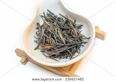 Traditional Chinese Tea. Red Tea. Tea On A White Background. Dianhong Mao Feng. Red Needle