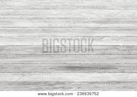White Washed Grunge Wood Panels. Planks Background. Old Washed Wall Wooden Floor Vintage