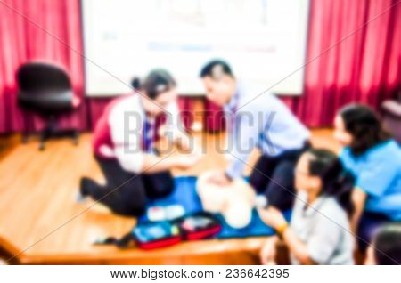 The Training Of Basic Life Support Resuscitation And Cpr Knowledge To Use In An Emergency Situation.