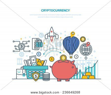 Financial Operations With Electronic Money, Cryptocurrency Exchange Rate, Turnover Bitcoin, Financia