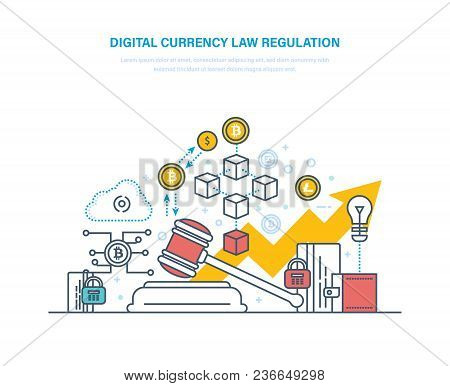Digital Currency Law Regulation. Financial Operations With Crypto-currencies, Settlement Currency Bi