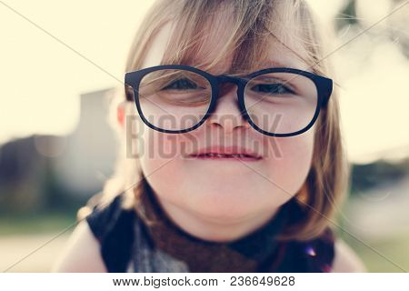 Cheerful pretty little girl