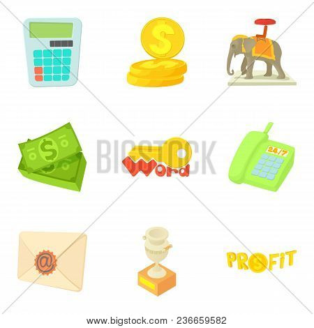 Refund Icons Set. Cartoon Set Of 9 Refund Vector Icons For Web Isolated On White Background
