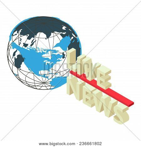 Press News Icon. Isometric Illustration Of Press News Vector Icon For Web