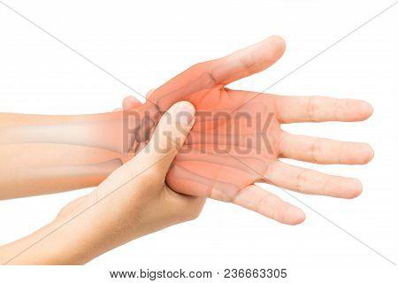 Hand Bone Pain White Background Hand Injury