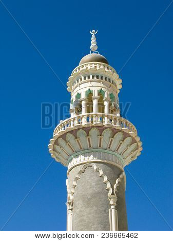 Exterior View Of Al Gohari Mosque Aka Mosque Of Essential At Tarim, Hadhramaut, Yemen