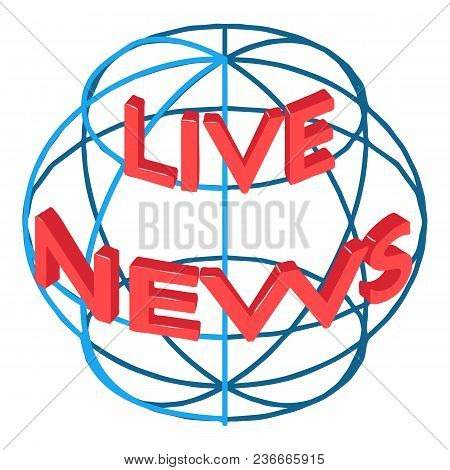 Global News Icon. Isometric Illustration Of Global News Vector Icon For Web