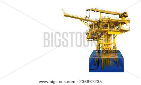 Ace Offshore Oil And Gas Wellhead Remote Platform Produced Raw Gas Condensate Then Sent To Central F