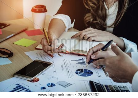 Financial Advisor, Accounting And Investment Concept, Business Owners Consult Adviser Financial Meet