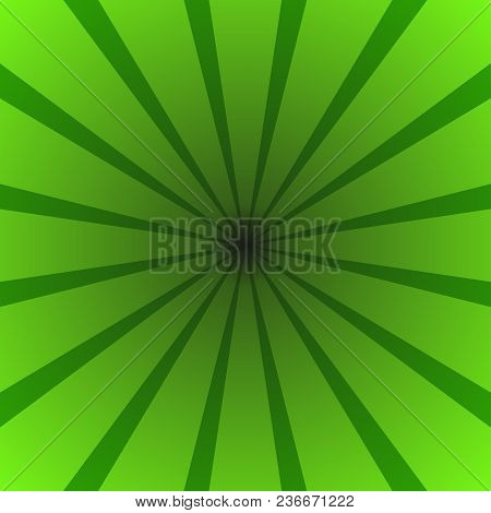 Green Gradient Abstract Star Burst Background - Motion Vector Graphic Design With Radial Striped Ray