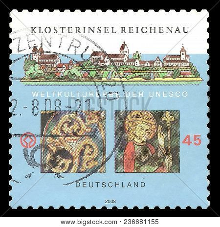 Germany - Circa 2008: Stamp Printed By Germany, Color Edition On Unesco World Heritage, Shows Monast