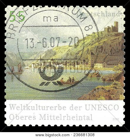 Germany - Circa 2006: Stamp Printed By Germany, Color Edition On Unesco World Heritage, Shows Rhine