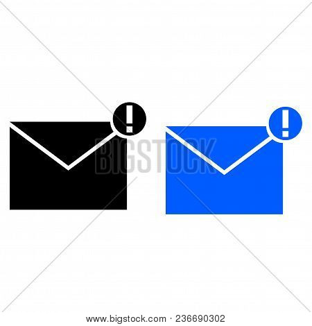 Spam Message Icon. Vector Illustration. Glyph Style