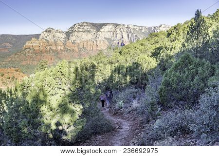 Hiking One Of The Many Fantastic Trails All Around Sedona