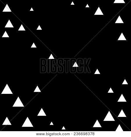 Triangle Seamless Pattern. Fashion Graphic Background Design. Modern Stylish Abstract Monochrome Tex