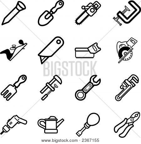Tool Icon Series Set Icons