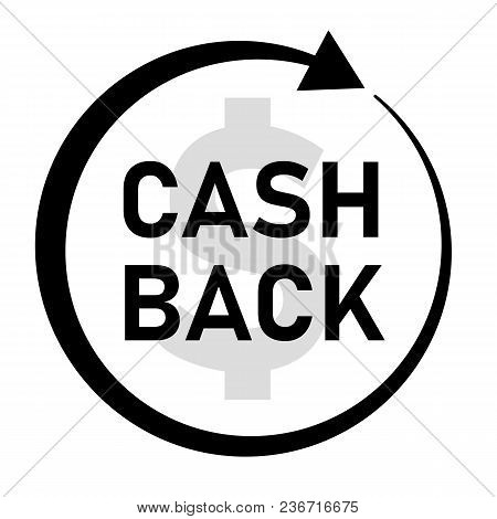 Cash Back Icon On White Background. Cash Back Sign. Flat Style. Money Cash Back Banner.